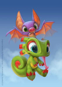 Yooka Layle... either the cutest thing in the world, or the last thing you will see before it ends...